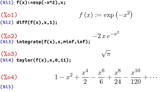 オープンソースの数式処理システムMaxima   リツアンSTC